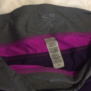 Champion Shorts - Champion Athletic Shorts -Purple/Pink/Grey - Large